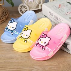Hello Kitty Little Girls&Boys Flip Flops Blue/Pink/Yellow Boys Flip Flops, Beach Flip Flops, Flip Flop Shoes, Hello Kitty, Kids Slippers, Cute Teen Outfits, Beach Shoes, Childrens Shoes, Trendy Shoes