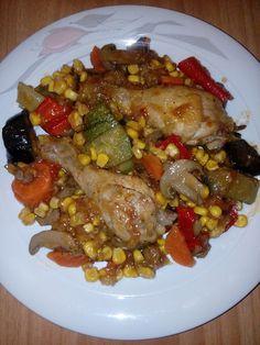 Μπουτάκια κοτόπουλο με λαχανικά !!! ~ ΜΑΓΕΙΡΙΚΗ ΚΑΙ ΣΥΝΤΑΓΕΣ 2 Cookbook Recipes, Cooking Recipes, Kung Pao Chicken, Meat, Ethnic Recipes, Greek, Food, Chef Recipes, Essen