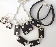 How to make recycled jewelry from an old leather belt!