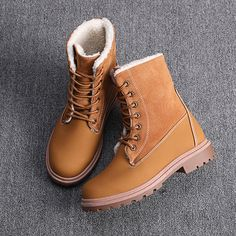Women's Fashion Winter Ankle Booties Sexy Lace-up Solid Color Low Heel Boots Warm Short Boots Casual Shoes for Women Low Heel Boots, Low Heels, Heeled Boots, High Heel, Casual Heels, Casual Boots, Ankle Booties, Bootie Boots, Timberland Boots Outfit