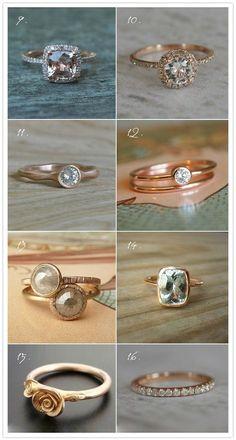 rose gold rings   love numbers13 and 14