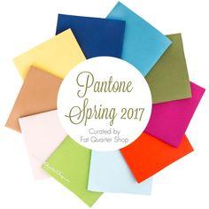 Pantone Spring 2017 Fat Quarter Bundle<BR>Curated by Fat Quarter Shop