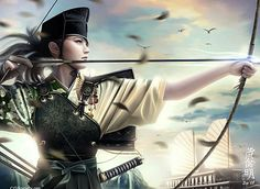 (BP2) Looking for inspiration from traditional Japanese ranged warriors. Not sure if I want to carry around a bow or a crossbow though... I can use the faction symbol on the medallions on this!