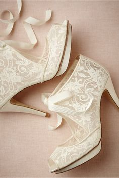 Chantilly Lace Booties, BHLDN
