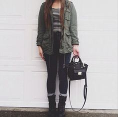 Looks like my jacket! I still need a striped tee and some socks to go with my combat boots for Ireland!