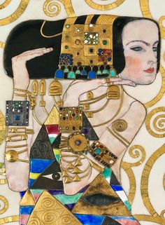 """From a series of three mosaics """"The Stoclet Frieze"""" by Austrian painter Gustav Klimt."""