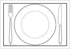 bord met bestek kleurplaat - Google zoeken