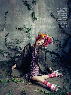 """Room with a Garden"" | Models: Sung Hee Kim & Jung Sun Jin, Photographer: Bo Lee, Vogue Korea, February 2013"