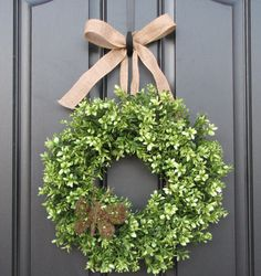 Hey, I found this really awesome Etsy listing at https://www.etsy.com/listing/86122380/boxwood-wreath-door-wreaths-spring