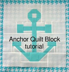 Anchor Quilt Block Tutorial
