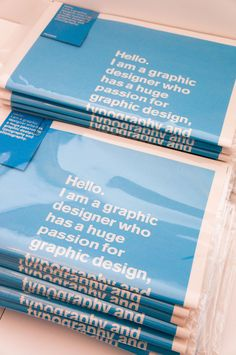 Janson Creative by Leo Janson, via Behance---- Great way to market your professional capabilities