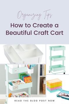 In this episode of Recreate It, I am breaking down how to create a craft cart on any budget like this one from The Container Store. Kids Bedroom Organization, Small Space Organization, Playroom Organization, Organization Hacks, Organizing, Small Playroom, Container Store, Inspiration For Kids, Staying Organized