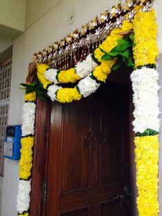 Backdrop Decorations, Diwali Decorations, Flower Decorations, Backdrops, Housewarming Decorations, Rangoli Patterns, Marriage Decoration, Main Door, House Warming