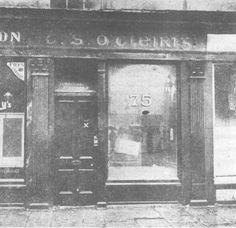 Thomas Clarke's Tobacco shop and newsagents, notice the Irish language signage. Ireland 1916, Irish Independence, Tobacco Shop, Easter Rising, Irish Language, Erin Go Bragh, History Page, Free State, Respiratory System