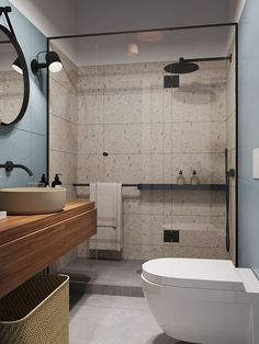 Wooden Home Decor 31 Nice Contemporary Bathrooms Design You Never Seen Before - A look at features of a contemporary bathroom and considerations for choosing one. Many home owners are remodelling their homes to have contemporary b. Contemporary Bathroom Designs, Contemporary Interior Design, Bathroom Interior Design, Decor Interior Design, Modern Bathroom, Small Bathroom, Interior Decorating, Master Bathrooms, Bathroom Mirrors