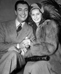 Robert Taylor and Barbara Stanwyck married in 1939