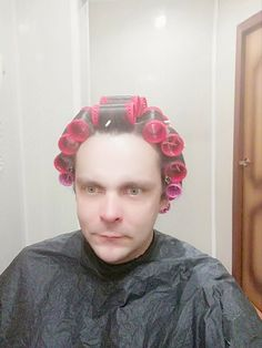 Men Perm, Feminized Boys, Roller Set, Curlers, Old And New, Hair Beauty, Hair Styles, Perms, Women