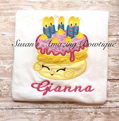 Embroidered wishes birthday cake shirt/onesie by susansamazingbows