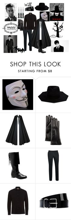 """Will's V for Vendetta"" by queen-rita-stark ❤ liked on Polyvore featuring Ilariusss, GRANDOE, Topman, Nudie Jeans Co., Dsquared2 and Zwilling J.A. Henckels"