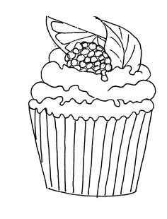 Cupcakes, sorvetes, bolos e doces (Cupcakes, ice creams, cakes and sweets) Food Coloring Pages, Quote Coloring Pages, Coloring Sheets, Adult Coloring, Coloring Books, Doodle Drawings, Easy Drawings, Doodle Art, Cupcake Drawing