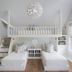 How fun is this bunk room designed by @sophiemetzdesign? We are sure that any kid would think this was a magical place...what do you think? | Via Instagram: @scoutandnimble