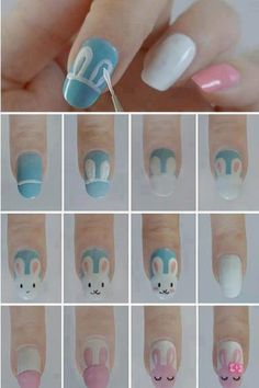 Great tutorial on how to create these 3 cute nail designs...