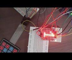 Arduino 4x4 Keypad and 8x8 LED Matrix
