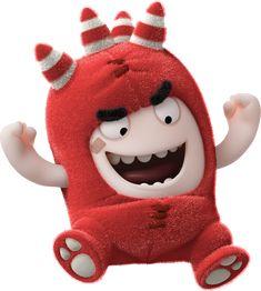 Oddbods - rouge