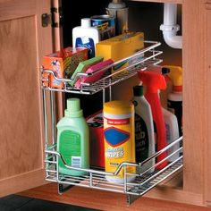 Slide Out Cabinet Organizers from #SkyMall