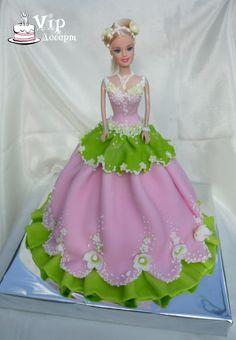 - Barbie Torte, Bolo Barbie, Barbie Doll, Dolls, Barbie Cake Designs, Fondant Cake Designs, Barbie Birthday, Birthday Cake Girls, Frozen Doll Cake