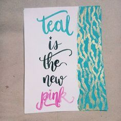 For the girls out there falling in love with teal. With special participation of gold and black. ❤💙💛💗 . . #notealcoloredheartemoji #art #watercolor #brushlettering #brushletteringph #brushcalligraphy #brushcalligraphyph #handlettering #handletteringph #moderncalligraphy #moderncalligraphyph #typography #typographyart #quote #girlpower #teal
