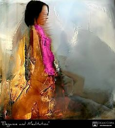 ''Elegance & Meditation'' 2014 by Dean Copa. An artwork from a totally different era.