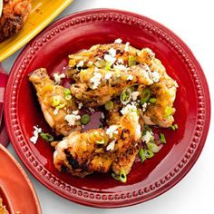 Baked Buffalo Queso-Fresco Wings - Rachael Ray Every Day Easy Appetizer Recipes, Entree Recipes, Cooking Recipes, Healthy Recipes, Appetizers, Appetizer Ideas, Yummy Recipes, Dinner Recipes, Best Chicken Wing Recipe