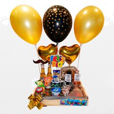 Gift Hampers, Gift Baskets, Dad Birthday, Birthday Gifts, Birthday Hampers, Birthday Balloon Decorations, Fathers Day Mugs, Happy Minds, Ideas Para Fiestas