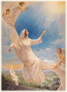 Glorious - The Assumption of the Blessed Virgin Mary. Artist, Lisa Andrews, The Assumption of Mary : Our Heavenly Hope.