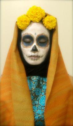 Dia de los muertos -- sugar skull costume by bicyclesforeveryone, via Flickr