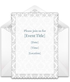 Take a look at more of our FREE bridal shower invitations. We love this design for a formal bridal shower. Easily personalize and send via email.