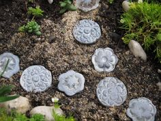 Fairy Garden stepping stones miniauture gardening by UnInhibited, $8.00