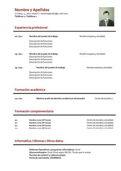 formato-curriculum-basico-sin-experiencia.jpg (1131×1600)