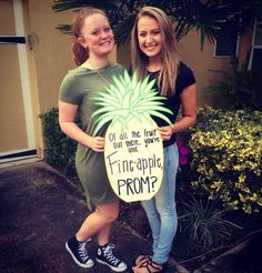 Friends pineapple prom proposal