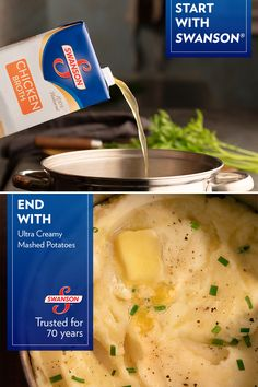 Perfect for all the mamas (and papas) who take Thanksgiving seriously. Made with Swanson Broth, trusted for 72 years. Potato Dishes, Potato Recipes, Food Dishes, New Recipes, Favorite Recipes, Side Dishes, Recipies, Cooker Recipes, Crockpot Recipes