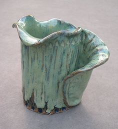 hand built pottery vase one of a kind by winslowlane on Etsy, $15.00