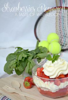 Wimbledon Strawberries Romanoff Recipe