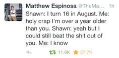 Shawn cussing ajdjdd