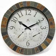 Timepiece - Slate Mosaic Weather Clock