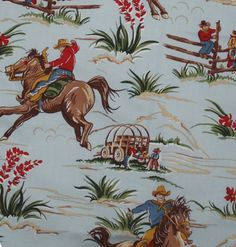 vintage cowboy fabric I'm trying to find this fabric...