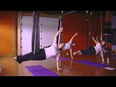 MSC Aerial Yoga #1    Aerial yoga is coming to No Excuses Fitness.  Watch this video to see some of the things you might do in class.  Sign up now by calling 412-901-0664