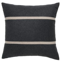 Square Pillow, Charcoal | Blu Dot | $59.00 | DIGS | Free shipping on orders over fifty dollars | Modern furniture, housewares, decor & gift items.