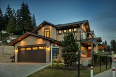 10 Plums by Wallmark Custom Homes, represents a one-of-a-kind opportunity for home buyers who are looking for a new or custom view home in North Vancouver. North Vancouver, Night Time, Custom Homes, Exterior, Mansions, House Styles, Home Decor, Decoration Home, Manor Houses