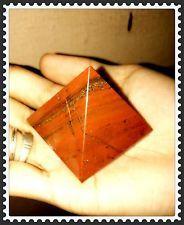 """Wonderful Large 80mm 3"""" Chakra Red Jasper Crystal Healing Rieki Pyramid"""